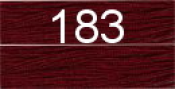 Нитки бытовые IDEAL 40/2 366м 100% п/э, цв.183 бордовый