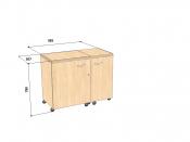 Стол для швейной машины и оверлока Комфорт 5L+