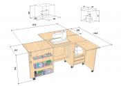 Стол для швейной машины и оверлока Комфорт 5XL+