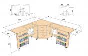 Стол для швейной машины и оверлока Комфорт 6L