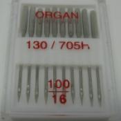 Иглы Organ 130/705Н (№ 100)  универсальные