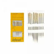 Иглы IDEAL арт.ID-005/ 300E5 д/вышивания с позолоченным ушком упак.12 игл (0340-0005)